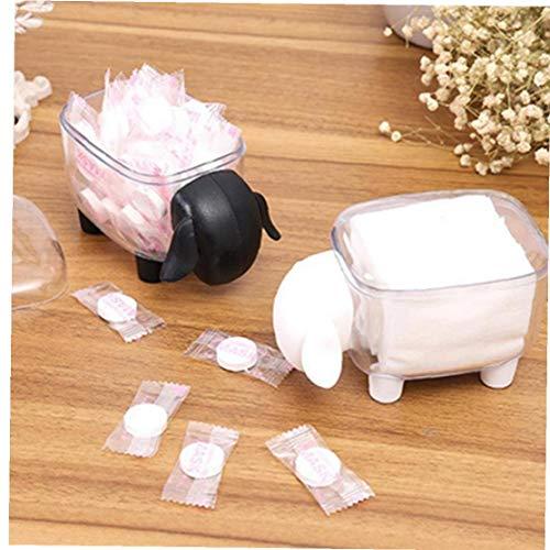 1 PC Coton-Tige en Forme de boîte Mouton Porte-Coton Bud Base Chambre Décore Toothpicks Holder Case Black Toothpick