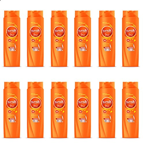 Sunsilk Shampoo für intensives Haaraufbau, 12 Stück