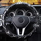 coofig New Diamond Leather Steering Wheel Cover with Bling...