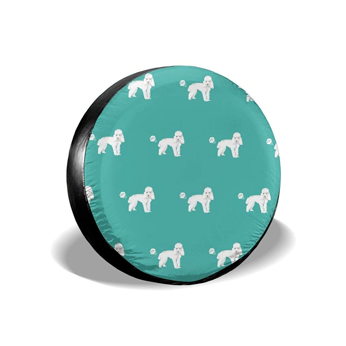 X-Large Toy Poodle Funny Dog Fart Pets Pure Breed Dogs Teal Polyester Universal Spare Wheel Tire Cover Wheel Covers Jeep Trailer RV SUV Truck Camper Travel Trailer Accessories(14,15,16,17 Inch)