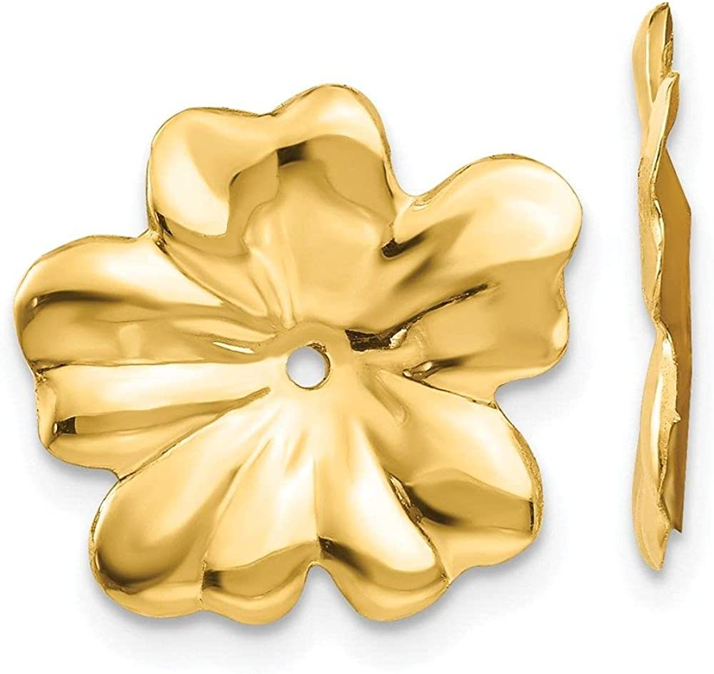 Jewelry-14k Polished Floral Earring Jackets