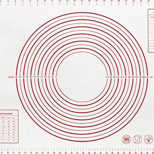 Übergroße 80/70 / 60cm Silikon Backmatte Gebäck Rolling Knete Pad Küche Crepes Pizzateig Antihaft-Pfanne Gebäckmatte 2020 New-Red, 40x30cm