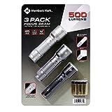 Member's Mark 500 Lumens 3 Pack Focus Beam Tactical LED Flashlighs
