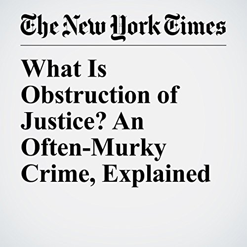What Is Obstruction of Justice? An Often-Murky Crime, Explained copertina