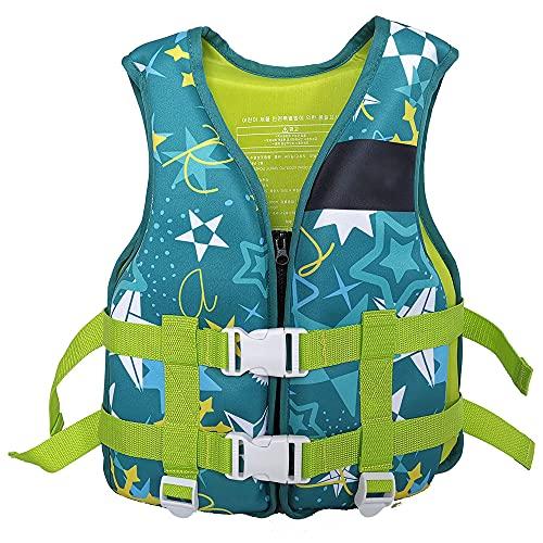 YUYDYU Chaleco de natación para niños, chaleco flotante de neopreno ajustable, ayuda de natación para niños y niñas, chaleco de buceo para canoa, kayak, piragüismo, 5 a 10 años, peso 25 a 40 kg