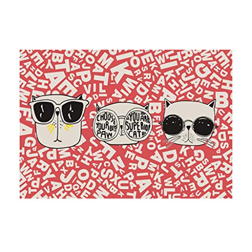 HLD Ins tij merk mode-cartoon tapijt eenvoudige persoonlijkheid woonkamer slaapkamer mode garderobe bed tatami mat Tapijtpads (Color : B, Size : 140 * 200cm)