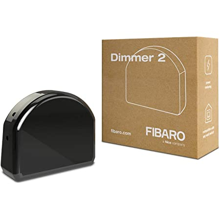Fibaro FGD-212 Dimmer 2, Negro