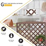 """Raised Garden Bed Outdoor Planter Box with Trellis for Flower Standing Vertical Lattice Panels for Vine 31"""" L x 12"""" W x 47"""" H 8 OVERALL DIMENSIONS: 31.1""""(L) x 12.2""""(W) x47.2""""(H).garden raised bed perfect for all kinds of plants, anywhere - gardens,yard, terraces, balconies, corridors,patios, turn your space into a green one. Garden planter with trellis creates a good stable environment for your creeping and vine plants.Any kind of Light gardening tools and beautiful decorations can be hung on the trellis to beautify your garden. Reinforced thick frame supported flower box can strongly hold for the heavy plants,soil, water. Large space to grow anything from flowers to vegetables to herbs,it can serve a decorative work,also fully plays it practical role."""