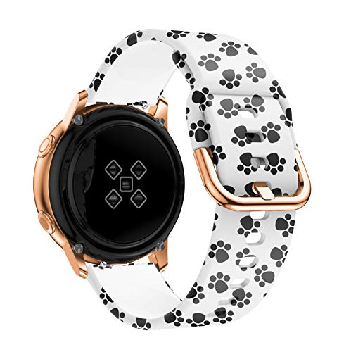 YGGFA Correa de Reloj de 20 mm para Samsung Galaxy Active 2 3 41mm 42mm 40mm 44mm para Huawei Watch GT 2 42mm para Amazfit GTS 2 (Band Color : Cat Paw, Size : Amazfit GTR 42mm)