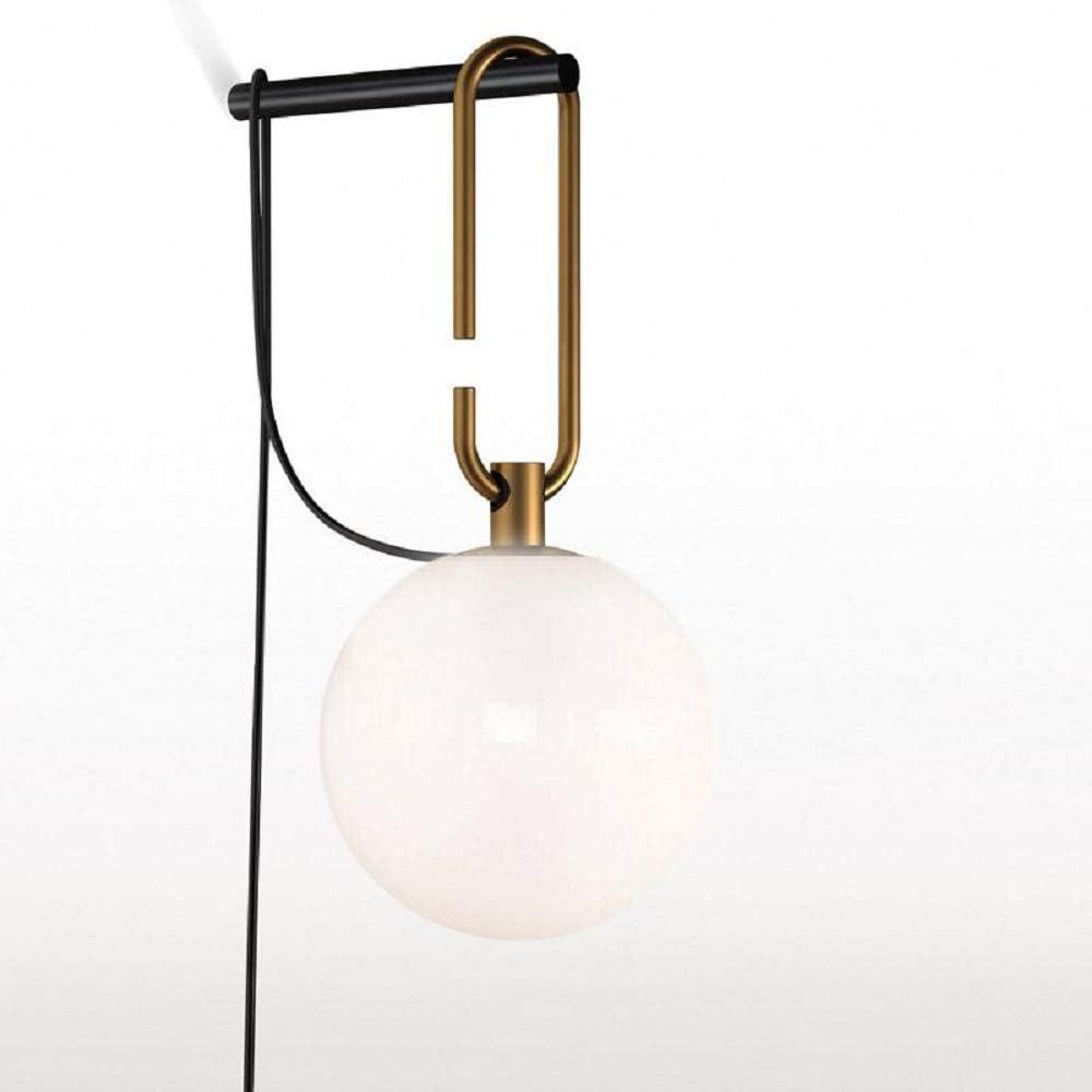 Artemide, lampada a sospensione in metallo con finitura in ottone, sfumatura sferica è in vetro soffiato 1277010A
