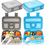 Bizz Travel Bento Box Set Lunch Boxes with Utensils, Removable Microwaveable, Dishwasher Safe Tray...