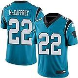 L-SLWI 22# Mccaffrey Carolina Panthers Jersey De Fútbol Americano, Rugby Bordado Jerseys De La Camiseta del Deporte De Entreno De Secado Rápido Camisa De Los Hombres,Azul,S