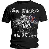 Iron Maiden Sketched Trooper Mens T Shirt: Large: Rocks-off Herren Iron Maiden Sketched Trooper T-Shirt, Schwarz-Schwarz, Large (Textilien)
