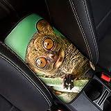 FOR U DESIGNS(JP)車用アームレストカバー メガネザルの柄 保護作用 上質の生地 耐久性よい 弾性