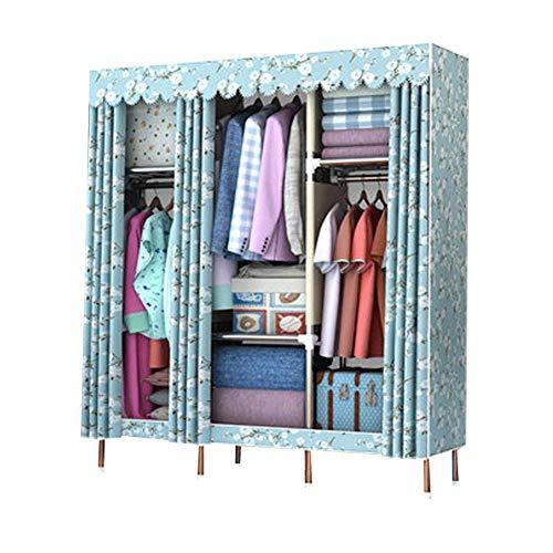 Lowest Price! PENG Sole Simple Wardrobe Modern Fabric Cabinet Assembly Single Storage Steel Steel Fr...