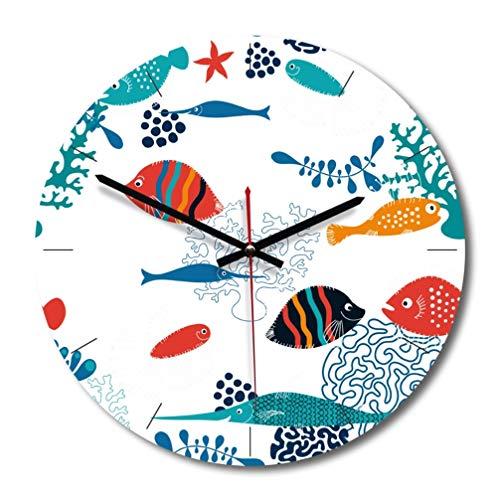 Relógio BesPORTBLE, 1 peça, estilo nórdico, decorativo, estilo conto de fadas, temporizador redondo de madeira para decoração de casa e quarto