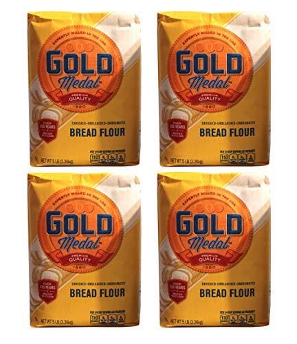 Gold Medal Unbleached Bread Flour 5Lb (4 Pack)