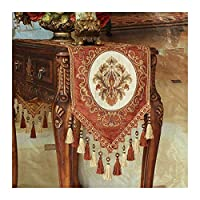 DDBB ホームキッチンテーブルタッセルダイニング党を持つ複数のタッセル花柄テーブルランナーとランナー刺繍花テーブルランナー 家族の夕食、屋外または屋内のパーティー、農家 (Color : D, Size : 35*160cm)