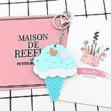 Baby-lustiges Spielzeug Mini-Eis-Form-Handspiegel-kleine Glasspiegel für das Handwerks-Dekoration-Kosmetik-Zusatz-Blau