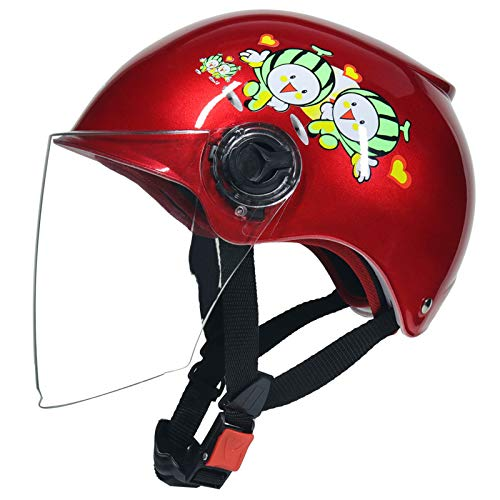 Metermall Sports For Kids Scooter Half Helmet Bike Riding Safety Helmet with Transparent Face Cover