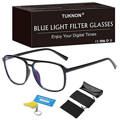 Blaulichtfilter Brille, Blaufilter Brille, Game Brille, Computerbrille,PC Gaming Brille, TV Brille, Anti Blaulicht Brille Blue Light Blocking Glasses Anti Augen Müdigkeit für Frauen und Männer