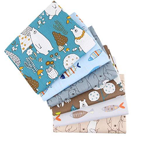 Sábanas de tela de tela estampada de confección Múltiples colores Cómodas bordados Tela Tela de algodón Monederos para acolchar Artesanía DIY Hojas de costura