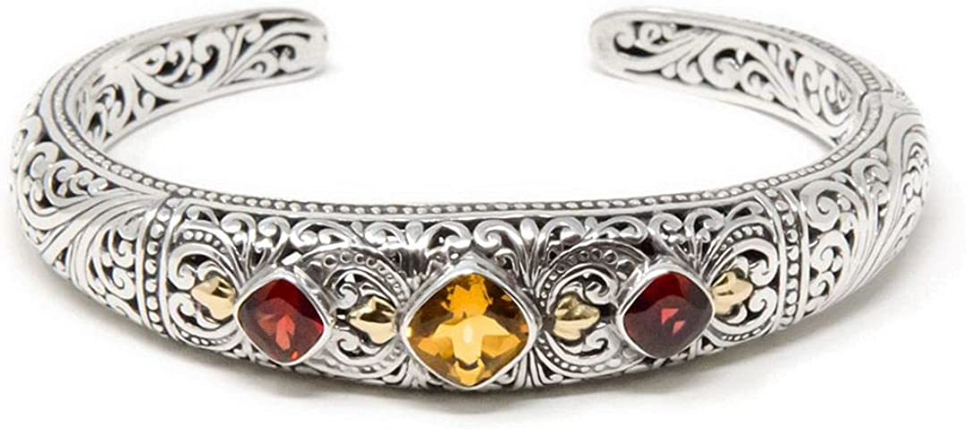 Artisan Bali Treasures, Lotus Flower Garden Bali Bracelet Cuff,