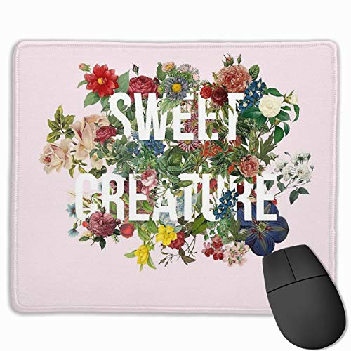 Sweet Creature Harry Styles Computer Mousepad Stitched Edge Laptop Gaming Mouse Pad 11.8'X9.8'