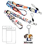 GTOTd Grey's Anatomy LanyardBtv Show with id Holder (2pack with Meredith Grey Keychain) for Keys Wallet.Gifts Merch Grey's Anatomy Lanyard Keychains for Women Man.