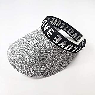 JDFHSD Sun Hat, Child Straw Hat, Summer Sun Protection, Empty Top Hat (Color : Silver)