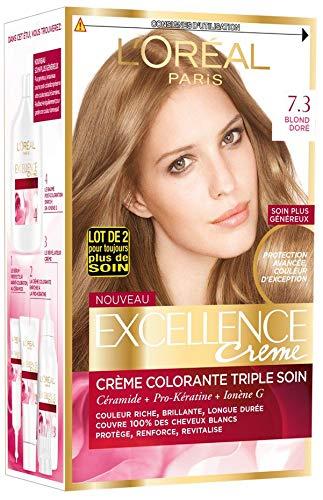 L'OREAL - Coloration - EXCELLENCE crème - Tout les Blonds - 7.3_Blond doré