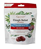 Quantum Health Organic Cough Relief Lozenges, Bing Cherry, Natural Menthol Cough Suppressant, Bagged, 18 Ct.