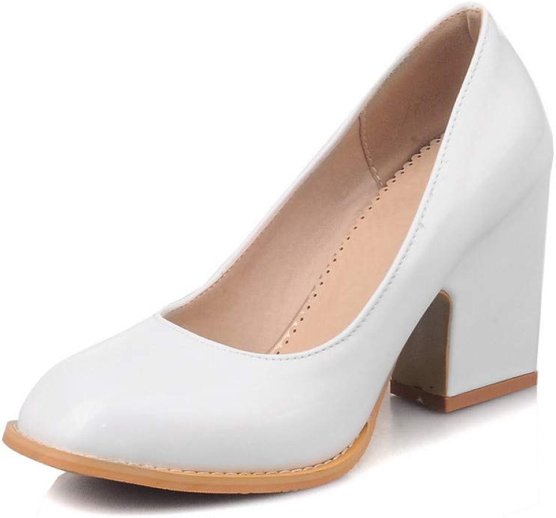 Ai Ya-liangxie 31-48 Elegante Elegante Elegante High Heels Damen Schuhe Frau Schwarz Rosa Weiß Plattform Office Lady Datum Pumpen  a11376