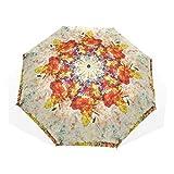 LUPINZ - Paraguas plegable de colores vintage con diseño de mapamundi, resistente al agua, resistente al agua