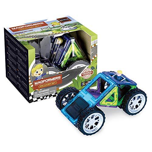 Magformers Racer 707016 Rally Kart Boy, Colores Vivos, 15 x 11.7 x 12.5 cm
