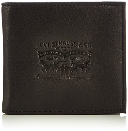 LEVIS FOOTWEAR AND ACCESSORIES Vintage Two Horse Bifold,  Monedero Unisex Adulto,  Negro,  2x10x11 cm (W x H x L)