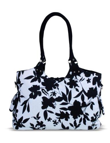 Kaiser 6572025 - Wickeltasche Betty, Design: black / white flowers