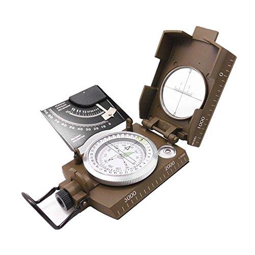 Americano US Military Lensatic Compass con il metallo luminoso Dial clinometro Camping