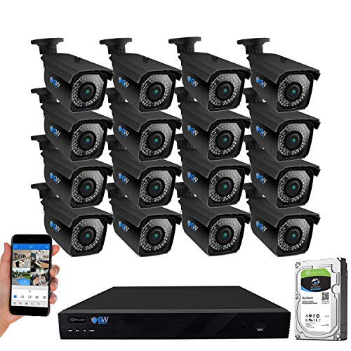 Lowest Price! GW Security 16 Channel 4K 8MP Network NVR HD 5MP IP Security Camera System with 16 x 1...