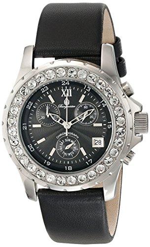Burgmeister Armbanduhr für Damen mit Analog Anzeige, Quarz-Uhr und Lederarmband - Wasserdichte Damenuhr mit zeitlosem, schickem Design - klassische, elegante Uhr für Frauen - BM191-122 Missouri