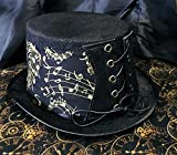 Steampunk Top Hat ~ Musical Notes Design