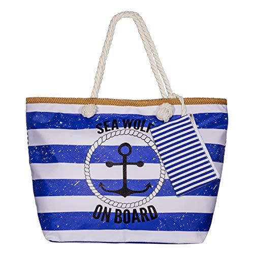 Diealles Bolsa de Playa de Lona Mujer Grande, Bolsa de Playa Grande con Cremallera para Mujeres y Niñas (Style 11)