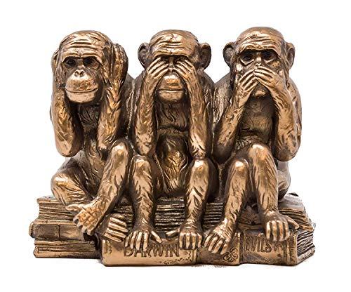 Leonardo Collection 3sitzend Affen Skulptur, Bronze, 17x 9x 13cm