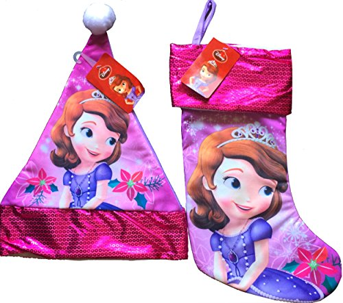 Sofia The First Stocking and Matching Sofia The First Christmas Santa...