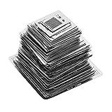 130pcs BGA Reballing Stencils Universal Rework Net Stencils Plantilla de acero Mesh directamente conjunto de juego de calor para placas base Puente norte-sur, tarjeta gráfica, chips BGA, etc.