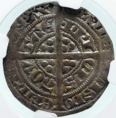 1362 unknown 1362-72 ANGLO-GAELIC UK FRANCE Edward the BLACK P 1/2 G VF 30 NGC