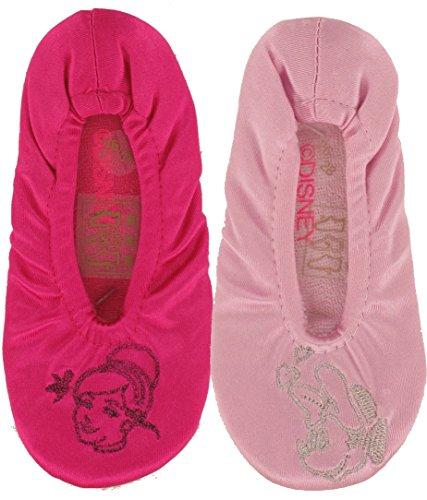 Disney Princess - Chaussons Ballerines Enfant Fille Lot de 2