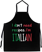 P.S. I Love Italy I Don't Need Recipes I'm Italian Apron - Italian Themed Cool and Cute Bib Aprons for Men and Women