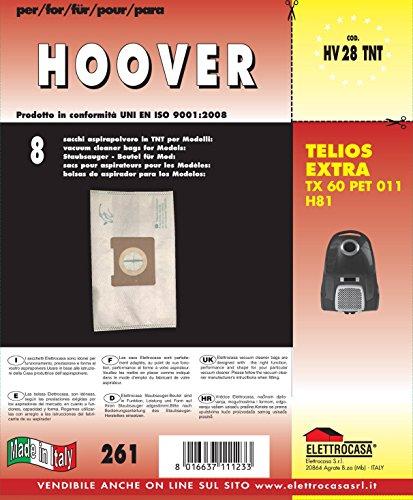HV 28 TNT - 8 SACCHETTI TNT PER HOOVER TELIOS EXTRA TX 60 PET 011