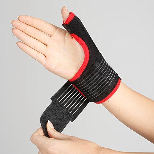 ArmoLine - tutore per il supporto e la stabilizzazione del pollice e del polso, con bendaggio a spica, adatto per sindrome di De Quervain e per sollievo da dolore e slogature